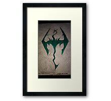 The skyrim doodle Framed Print
