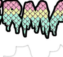 Pastel Goth Mermaid - Drippy Scales Sticker