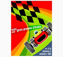 """ITALY GRAND PRIX"" Vintage Auto Racing Advertising Print Unisex T-Shirt"
