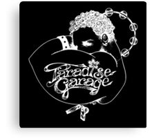 Paradise Garage logo white Canvas Print