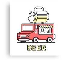 Food Trucks - Beer Canvas Print