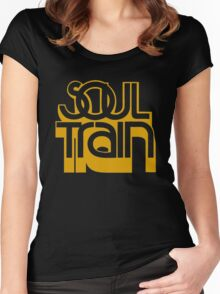 SOUL TRAIN (YELLOW) Women's Fitted Scoop T-Shirt