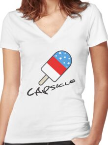 Capsicle Women's Fitted V-Neck T-Shirt