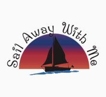 Sail away with me. Kids Tee