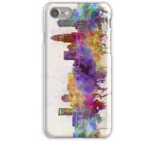Charlotte skyline in watercolor background iPhone Case/Skin