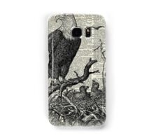 Eagles in Nest,Pen and Ink Drawing,Vintage Dictionary Book Page Art Samsung Galaxy Case/Skin