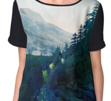 Heritage Art Series - Jade Chiffon Top