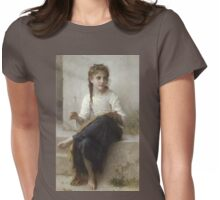 Sewing (1898) by William Bouguereau  Womens Fitted T-Shirt