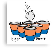 Beer Pong Auburn Tiger Prowler Canvas Print