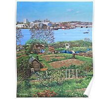 Allotments at Southampton beside River Itchen Poster