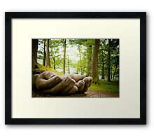 IN GOOD HANDS Framed Print
