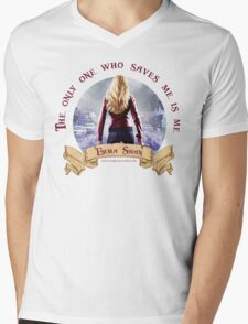 The Only One Who Saves Me Is Me - Emma Swan Mens V-Neck T-Shirt