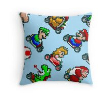Super Mario Kart SNES (pattern) Throw Pillow
