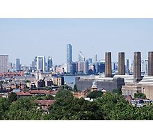 London Skyline Skyscrapers view from Greenwich Photographic Print