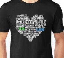 Clarke & Lexa quotes: best of ; Unisex T-Shirt