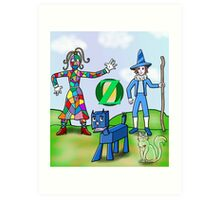 The Patchwork Girl and Friends Art Print
