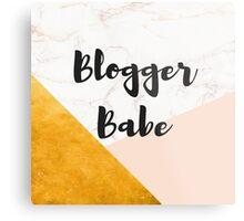 Geometric Gold & Peach Blogger Babe Metal Print