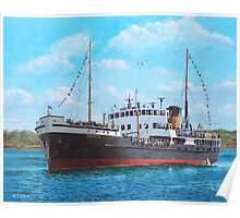 SS Shieldhall on a cruise in the Solent Poster