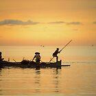Fishermen at Dusk by Werner Padarin