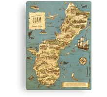 Vintage 1949 guam map - christmas gift for her Canvas Print