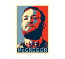 Conor McGregor Face Art Print