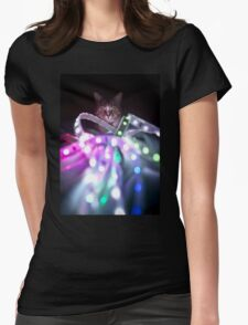 Disco Cat Womens Fitted T-Shirt