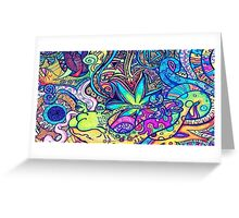 Psychedelic Slug  Greeting Card