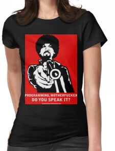 """ProgMofo, """"Optimized"""" Edition poster Womens Fitted T-Shirt"""
