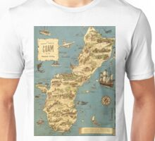 Vintage 1949 guam map - christmas gift for her Unisex T-Shirt