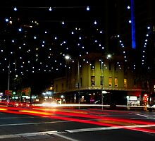 Russell and Lonsdale by Night - Melbourne, Victoria by clickedbynic