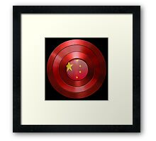 CAPTAIN CHINA - Captain America inspired Chinese shield Framed Print