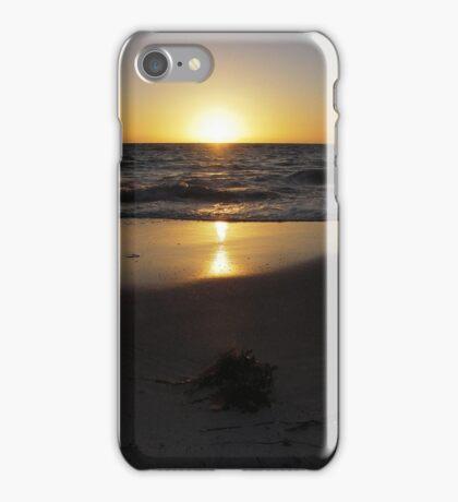 Golden glow over the horizon iPhone Case/Skin