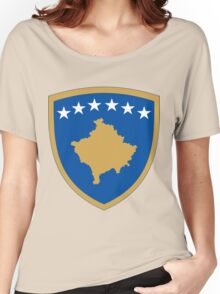 Kosovo Coat of Arms Women's Relaxed Fit T-Shirt