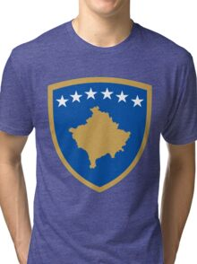 Kosovo Coat of Arms Tri-blend T-Shirt