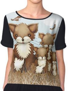 Little Foxes Women's Chiffon Top