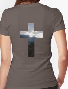 Christian Cross - Mountains 01 Womens Fitted T-Shirt