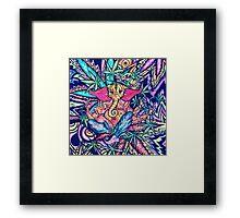 Psychedelic Lord Ganesha  Framed Print