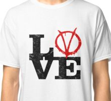 LoVe V for Vendetta Classic T-Shirt