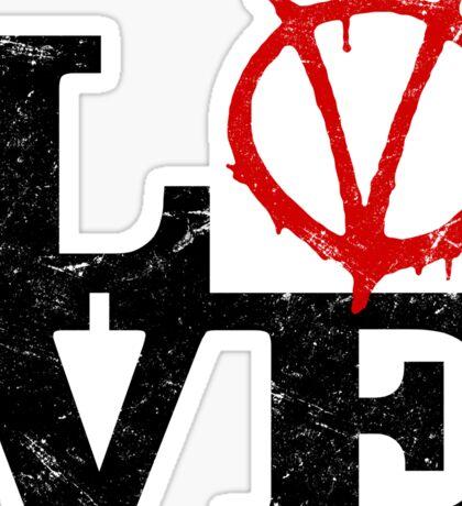 LoVe V for Vendetta Sticker