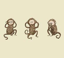 Three Wise Monkeys by Sophie Corrigan