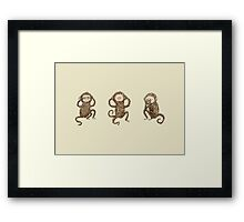 Three Wise Monkeys Framed Print