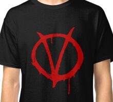 V for Vendetta Vintage Symbol Classic T-Shirt
