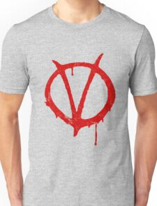 V for Vendetta Vintage Symbol Unisex T-Shirt