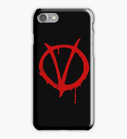 V for Vendetta Vintage Symbol iPhone Case/Skin