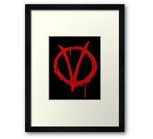V for Vendetta Vintage Symbol Framed Print