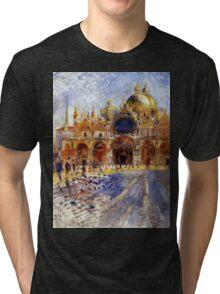 5 Piazza San Marco in Venice by Pierre Auguste Renoir Tri-blend T-Shirt