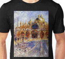 5 Piazza San Marco in Venice by Pierre Auguste Renoir Unisex T-Shirt