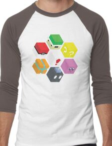 Nintendo Cubed Men's Baseball ¾ T-Shirt