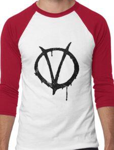 V for Vendetta Vintage Symbol Men's Baseball ¾ T-Shirt