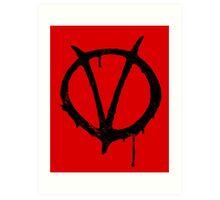 V for Vendetta Vintage Symbol Art Print